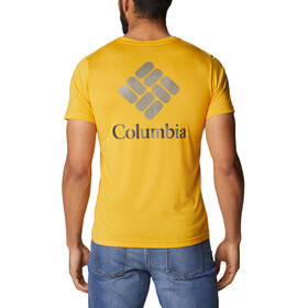 Columbia Maxtrail SS Logo Tee Men, bright gold stacked